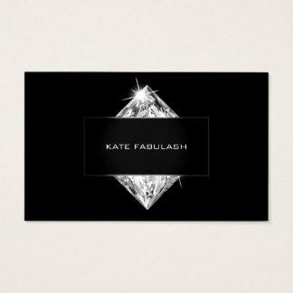Schwarz-weiße Kristalldiamant-Friseur-Schönheit Visitenkarte