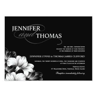 Schwarz-weiße moderne Hochzeits-Foto-Einladung 14 X 19,5 Cm Einladungskarte