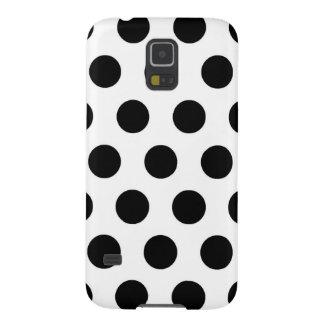 Schwarz-weiße Polka-Punkte - Kasten Galaxy S5 Hülle