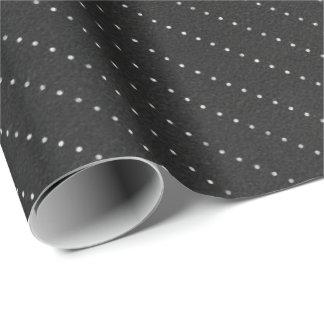 Schwarz-weiße Punkt-Streifen-Linien empfindliches Geschenkpapier