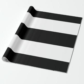 Schwarz-weiße Streifen Einpackpapier