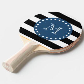 Schwarz-weiße Streifen Muster, Tischtennis Schläger