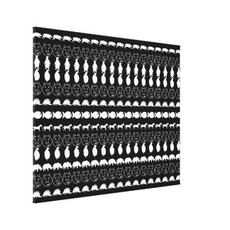 Schwarz-weiße Tier-modernes Streifen-Muster Leinwanddruck