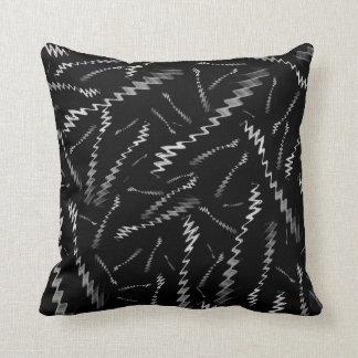 Schwarz-weiße Zickzacke Kissen