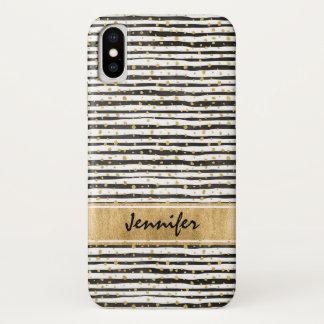 Schwarz-weißer Case-Mate kaum dort iPhone X Kasten