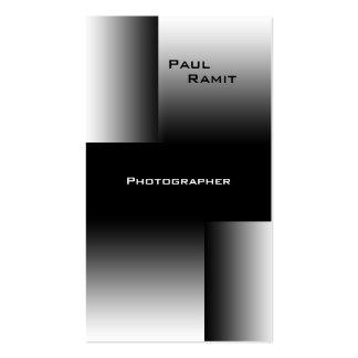 Schwarz-weißer Fotograf Chrom-Geschäfts-Karte BW 7 Visitenkartenvorlagen