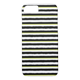 Schwarz-weißer u. Chartreuse gestreifter iPhone 6 iPhone 8/7 Hülle