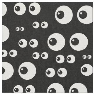 Schwarz-weißes Augengewebe Stoff