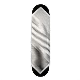 Schwarz-weißes Barcode-Muster-kundengerechte Skateboarddecks