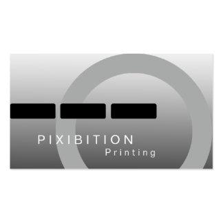 Schwarz-weißes einfarbiges Drucken Geschäfts-Karte Visitenkarten