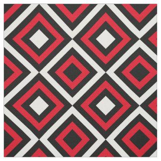 Schwarz-weißes rotes modernes Trendy geometrisches Stoff