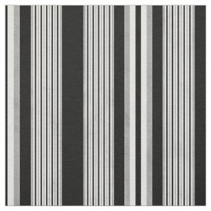 Schwarz-weißes und graues gestreiftes Muster Stoff