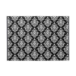 Schwarz-weißes Vintages Damast-Muster 1 iPad Mini Schutzhülle