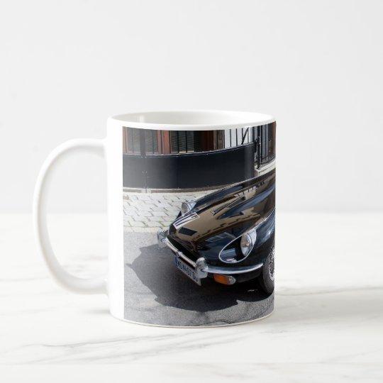 Schwarze Art Jaguars E Kaffeetasse