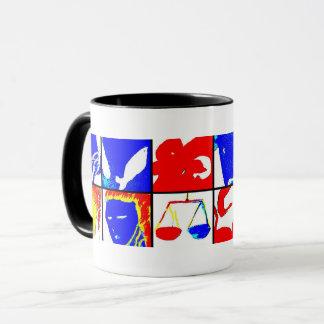 Schwarze Astrologie-Symbol-Tasse Tasse