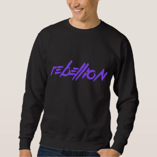 Schwarze Aufstands-Strickjacke Sweatshirt