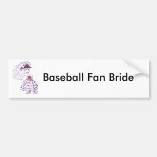 Schwarze Baseballmütze-Braut Autoaufkleber
