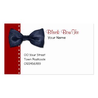 Schwarze BowTie Visitenkarte