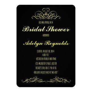 Schwarze Brautparty-Einladung 12,7 X 17,8 Cm Einladungskarte