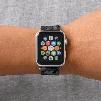 Schwarze Camouflage Apple Watch Armband