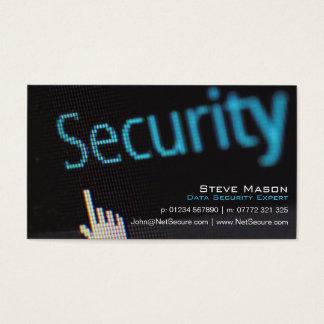 Schwarze Datensicherheits-Visitenkarte Visitenkarte