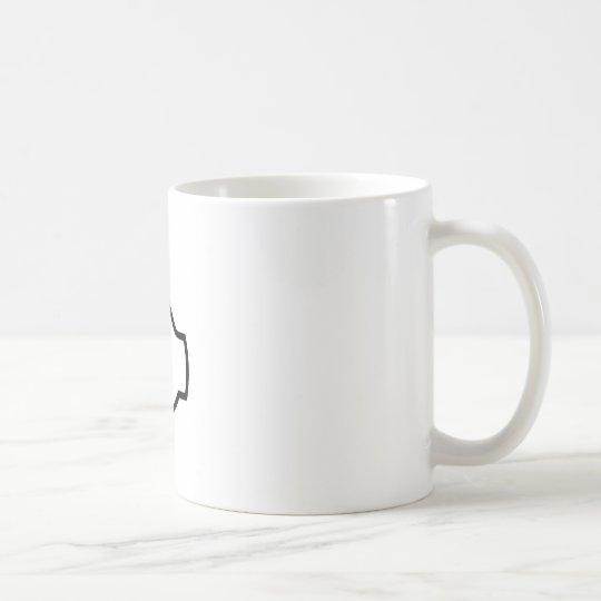 Schwarze Daumen oben Kaffeetasse