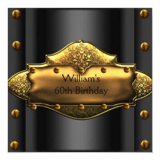 Schwarze der Geburtstags-Party-Gold der Männer Karte
