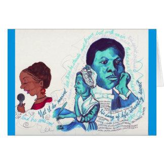 Schwarze Dichter-schwarze Geschichtskarte Karte