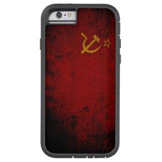 Schwarze die Schmutz-Sowjetunions-Flagge Tough Xtreme iPhone 6 Hülle