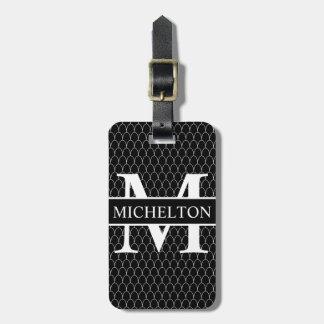 Schwarze Drache-Skala personalisiert Gepäckanhänger
