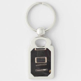Schwarze E-Gitarren-Schnüre Schlüsselanhänger