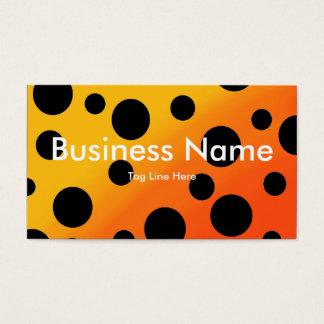 Schwarze Flecken auf gemischtem OrangeToYellow Visitenkarte