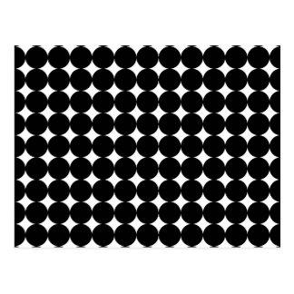 Schwarze Flecken auf Weiß Postkarte