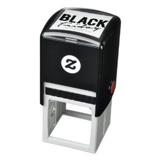 schwarze Freitag-Briefmarke Permastempel
