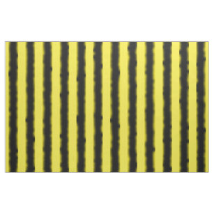 Schwarze, gelbe Bienen-Farbe Stripes Gewebe Stoff