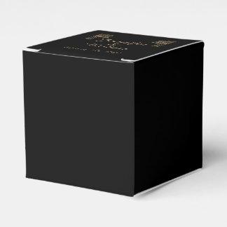 Schwarze Goldkunst-Deko-Pfau-Hochzeit Geschenkschachtel