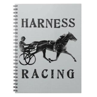 Schwarze graue Geschirr-PferdeSilhouette Notizblock