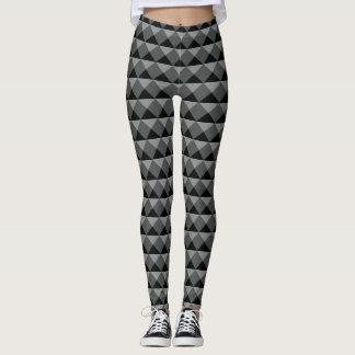 Schwarze graue moderne leggings