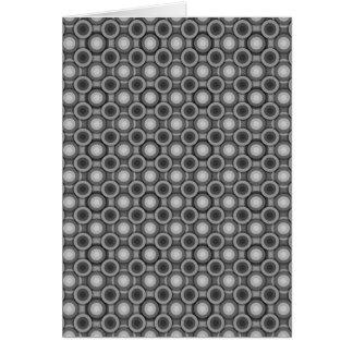 Schwarze, graue und weiße Täuschungs-Kreise Karte