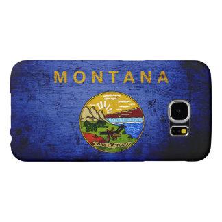 Schwarze Grunge-Montana-Staats-Flagge