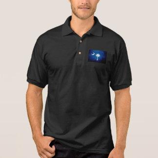 Schwarze Grunge-South- CarolinaStaats-Flagge Polo Shirt