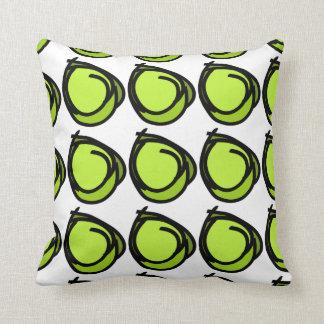 Schwarze Grüntöne der Kreise - Kreise entwerfen Kissen