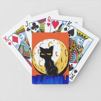 Schwarze Halloween-Katze Bicycle Spielkarten