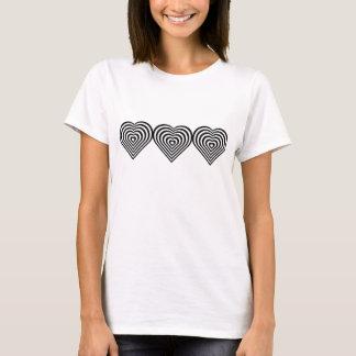 Schwarze Herzen T-Shirt