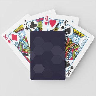 Schwarze Hexagone Bicycle Spielkarten