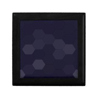 Schwarze Hexagone Kleine Quadratische Schatulle