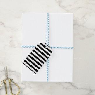 Schwarze horizontale Streifen Geschenkanhänger