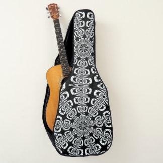 Schwarze Indie Mandala-Gewohnheit Gitarrentasche