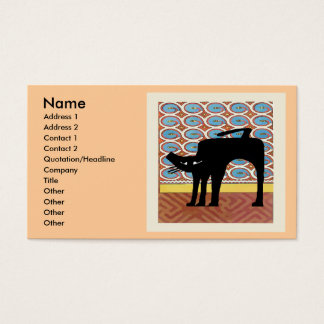 Schwarze Katze auf abstraktem Visitenkarte