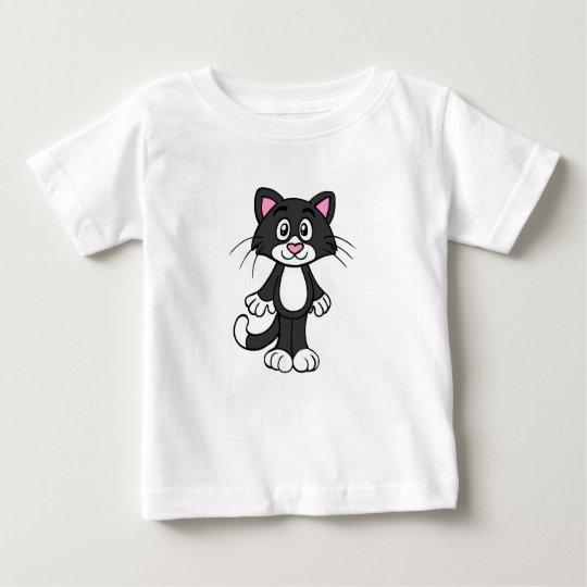 Schwarze Katze Baby T-shirt